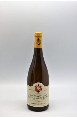 Ponsot Morey Saint Denis 1er cru Clos Des Monts Luisants 1998 blanc