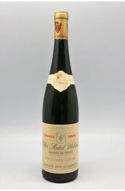 Zind Humbrecht Alsace Grand Cru Tokay Pinot Gris Rangen de Thann Clos Saint Urbain Vendange Tardive 1988