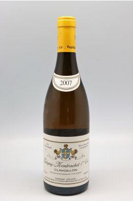Domaine Leflaive Puligny Montrachet 1er cru Clavoillon 2007