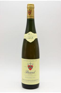 Zind Humbrecht Alsace Grand cru Riesling Brand 1992